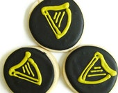 St. Patrick's Guinness Harp Cookies