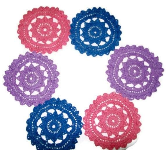 Crochet Cotton Doilies Or Coasters Set Of 6