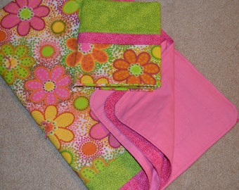 Spring Flower Quilt No. 1 with pillowcase