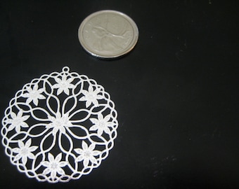 Forever Silver Elements Filigree Flower Medallion Anti Tarnish Charm by Wish Me Away On Etsy