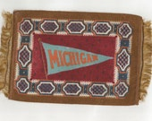 SALE...Vintage Tobacco Felt Rugs, Places, Playscale