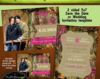 camo wedding invitation  etsy, Wedding invitations
