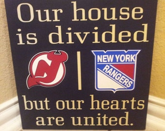 Personalized NHL House Divided Sign Any Hockey Team