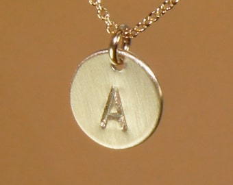 Initial Necklace in Gold-Free US Shipping