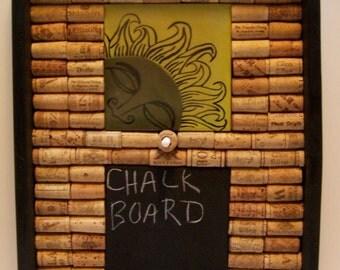 Chalkboard, Corkboard, Chalk, Wine Corks, Wall Hanging