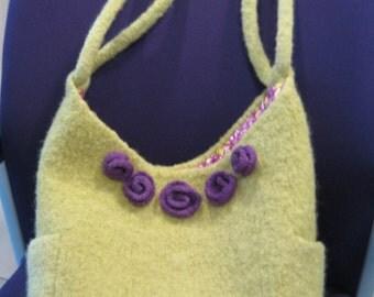 Hollyhocks & Roses Felted Bag PDF Knitting Pattern