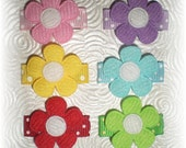 Baby Hair Clips, Flower Hair Clip, Baby Hair Snap Clip Set of 6...Hair Bows that STAY in Fine or Thin Hair