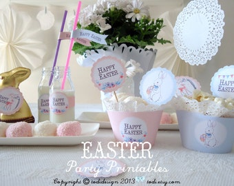 Easter Party Printables - Happy Easter  I N S T A N T • D O W N L O A D