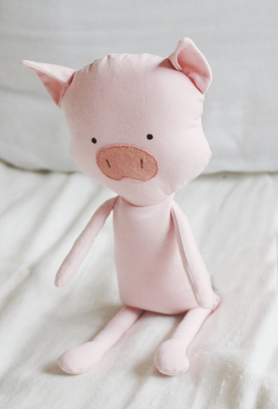 Pig Sewing Pattern Piglet Softie Plush Toy Cloth Doll
