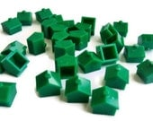 Vintage Monopoly Houses set of 30