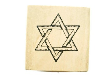 Star of David Rubber Stamp by Anita's