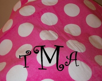 SALE Pink Polka Dot Beach Towel with name or monogram