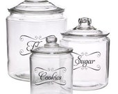 "Jar Labels & Tags 5""x3"" to help Organize Your Pantry Vinyl Decals Choose any 4"