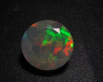10x10 mm - Faceted Round Cut - AAAAAAAAA - Ethiopian Welo Opal Super Sparkle Awesome Amazing Full Colour Fire