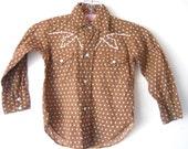 little bots Vintage Rockabilly Western H-Bar-C Pearl Snap Shirt 2T