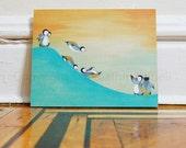 Slip & Slide On The Slope - 10x8 mounted art print