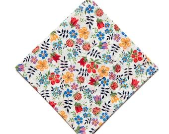 Pomp & Ceremony Pocket Square handkerchief Liberty of London Edenham Brights