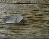 Raw Chunky Quartz Crystal Necklace