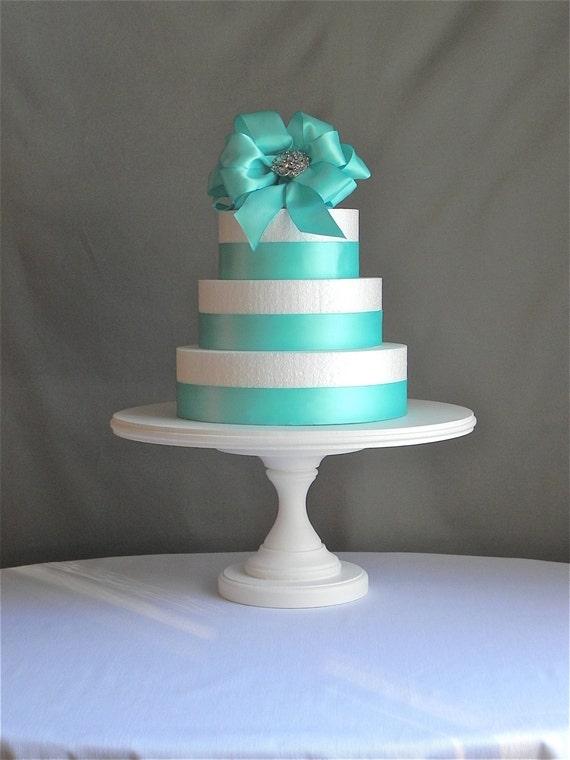 stand 14 round cupcake dessert white wooden pedestal vintage wedding