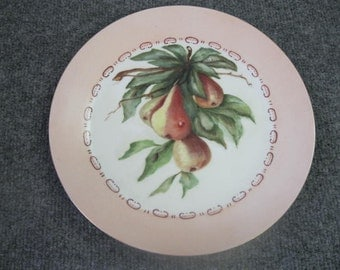 "Germany Scholwald Hand painted Plate - 10 1/4"" dia."