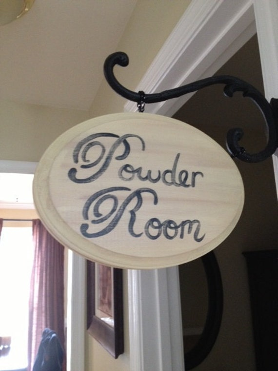 original bathroom decor wooden sign distressed wood sign vintage