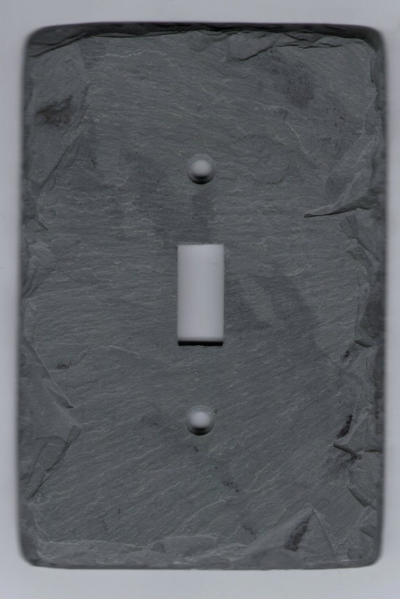 Unique Decorative Slate Stone Switch Plate By Vermontslateart
