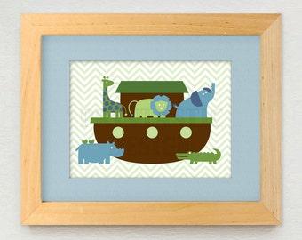 NOAH'S ARK Printable Nursery Art- Instant Download