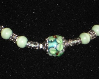 Lampwork art glass beaded Necklace