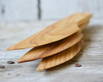 Wooden Knife by Peg and Awl, Reclaimed Wood, Cheese, Butter