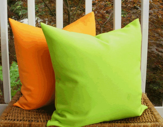 Decorative Outdoor Pillow Designer Lime Green Outdoor 18 X 18