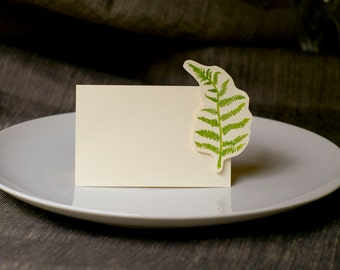 Fern Wedding - Escort Card - Place Card - Food Table Signage - Tag - Events, Baby shower