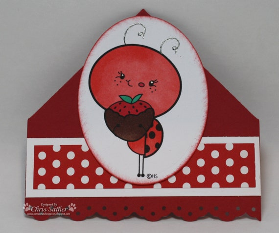 SWEET LADYBUG Corner Bookmark - so cute - won't ruin your pages