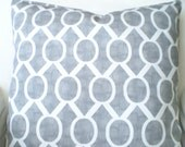 Gray Pillow Covers, Decorative Throw Pillows, Cushions Grey White Sydney Home Decor Euro Sham, Couch Bed Sofa Pillow, One or More  All Sizes