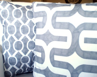 Gray Decorative Throw Pillow Covers, Cushions, Grey White Embrace Sydney, Couch Decorative Pillows Throw Pillows Set of Two Various Sizes