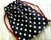 Drawstring Bag Backpack Black Polka Dot Red Other Colors Available