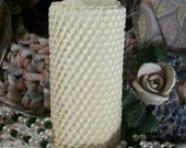"""Beeswax Honeycomb Honey Comb Candle Your Choice Of Color 4 1/2"""" Tall"""