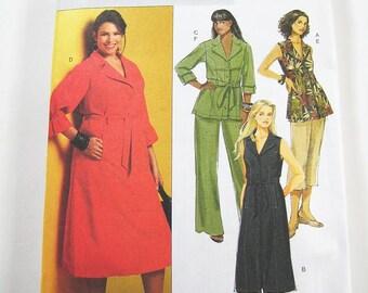 Sz 18/20/22/24W - Butterick Dress Pattern B5194 - Woman's Dress, Top, Shorts,Pants and Belt