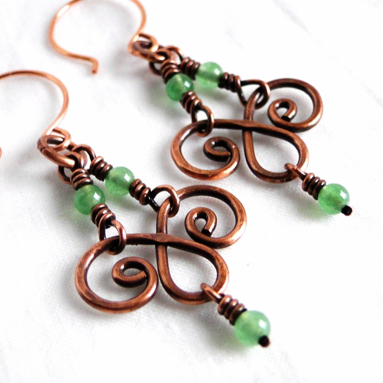 Chandelier Earrings Handcrafted Jewelry Green Aventurine