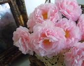 Paper Flowers Handmade Wedding Party Decor Vintage Inspired Roses Romantic Farmhouse Light Pink Set of 12 by AMarigoldLife