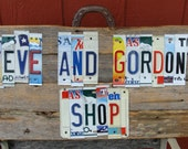 License Plate Signs Custom Personalized Shop Sign Your Choice