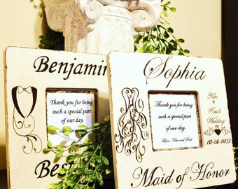 Rustic Wedding Party Personalized Frames