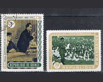 65  Postage Stamps - Politicians - Europe, Africa and USA