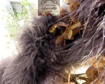 Marabou Boa Feathers Charcoal Dark Grey