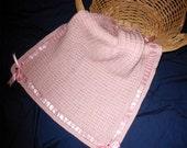 Pink Cross Stitch Afghan