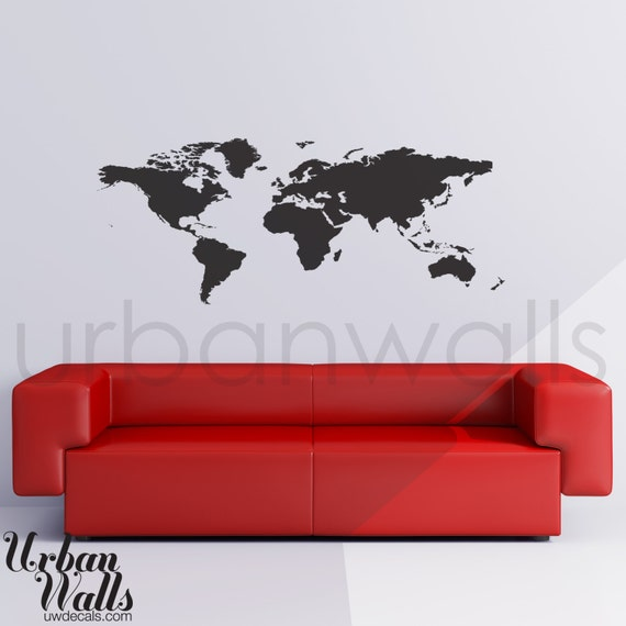 Vinyl Wall Sticker Decal Art World Map