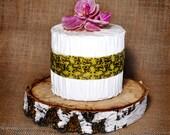 "12"" White Birch Rustic Wood Cake Slab"