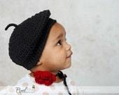 PDF Crochet Pattern - London Beret (N, 3-6m, 6-12m, 1-3y, 3-6y, 6-12y, YA & A) Tam, Slouchy, Cap Toddler, Woman, Girl, Teen