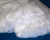Super Ruffle Mori Girl Pirate Wench or Bridal Bloomers with Lace Your Size Your Color Choice Knickers Pantaloons Shabby Chic Tattered