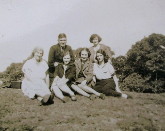 Vintage Photograph - A Family Day Out in the Country