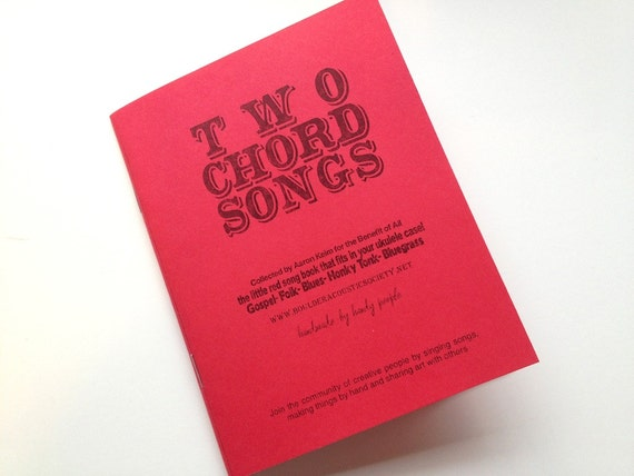 Two Chord Songbook- Handbound collection of Folk Songs